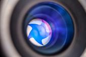 Camera lens close-up — Stock Photo