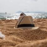 Straw fedora hat — Stock Photo #61515447