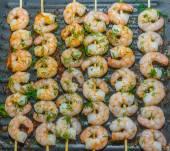 Roast prawn seafood — Stock Photo