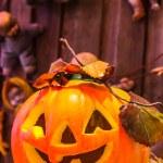 Jack o lanterns Halloween pumpkin face. — Stock Photo #58449025