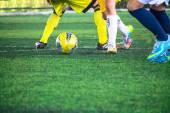 Soccer game. — Stock Photo