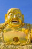Smiling Golden Buddha Statue. — Stock Photo