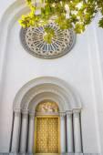 Church door way and  thai art church door texture  — Stock Photo