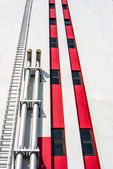 Tube for air ventilation on building — Stock Photo
