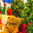 Teddy bear and christmas tree. — Stock Photo #59834605