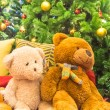 Teddy bear and christmas tree. — Stock Photo #59834625