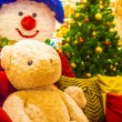 Teddy bear and christmas tree. — Stock Photo #59834641