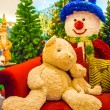 Teddy bear and christmas tree. — Stock Photo #59834645