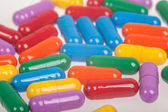 Variety of colorful pills — Stock Photo
