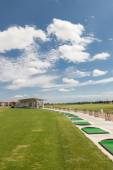 Golf course driving range. Training area — Стоковое фото
