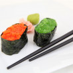 Sushi gunkan with caviar, tobiko. Traditional japanese food — Stock Photo #54912999