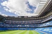 MADRID, SPAIN - MAY 14: Santiago Bernabeu Stadium of Real Madrid on May 14, 2009 in Madrid, Spain. Real Madrid C.F. was established in 1902. It is the best club of XX century according to FIFA. — Foto de Stock