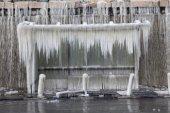 Frozen bus stop — Foto de Stock