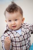 8 months old baby posing — Stock Photo