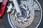 Disk brake system on a motorcycle — Stock Photo