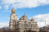 Varna, Bulgaria. View of the Cathedral of Byzantine style  — Stock Photo
