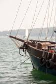 Close up of old wooden ship — Stock Photo
