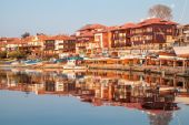 Nessebar, Bulgaria - APRIL 24, 2013 - view of Nessebar, ancient town on the coast of Black Sea — Stock Photo