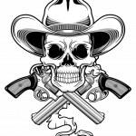 Постер, плакат: Outlaw skull