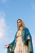 Saint Mary or the Blessed Virgin Mary, the mother of Jesus, in front of the Roman Catholic Diocese or Cathedral of the Immaculate Conception, Chanthaburi, Thailand. — Stock Photo