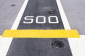 Five hundred metre sign on the road. — Stock Photo