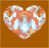 Painting heart — Stock Photo
