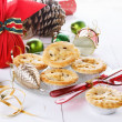 Christmas fruit mince pie over wtite background — Stock Photo #53949281