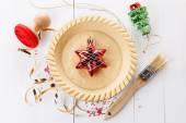 Baking Christmas tart — Stock Photo