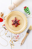 Baking Christmas tart — Stock Photo
