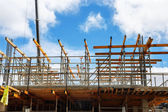 Fragment of a building framing and reinforcement — Stock Photo