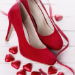 Valentine day collection in red — Stock Photo #61972331