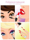 Professional makeup set — Stock Vector