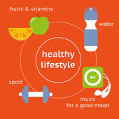 Infographic illustration of healthy lifestyle — Stock Vector
