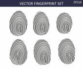 Fingerprints set — Stock Vector