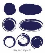 круг набор капля чернил — Cтоковый вектор