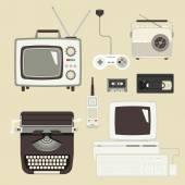 Zestaw urządzeń retro — Wektor stockowy