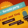 Retro karaoke party poster — Vector de stock  #55192087