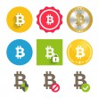 Bitcoin icons set — Stock Vector #60801893