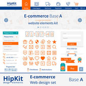 E-commerce web design elements — Stock Vector
