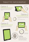 Infographic visualization of usability tablet pc — Stock Vector