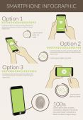 Infographic visualization of usability smartphone — Stock Vector