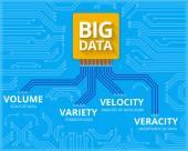 Big data - 4V visualisation — Stock Vector
