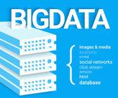 Big data - 4V visualisation — ストックベクタ
