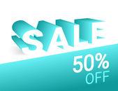 Sale 3d text — Stock Vector