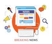 Online reading news — Stock Vector