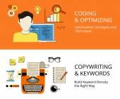 Кодирование и copywriting — Cтоковый вектор