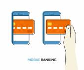 Mobile banking — Stock Vector