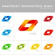 Geometrical sign logo design template — Stock Vector #54232061