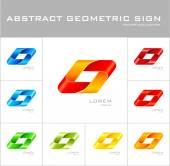 геометрические знак логотипа дизайн шаблон — Cтоковый вектор