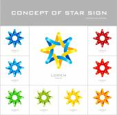 Star logo design template — Stock Vector